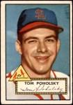 1952 Topps #242  Tom Poholsky  Front Thumbnail