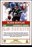 2019 Score #62  Blake Bortles  Back Thumbnail