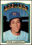 1972 Topps #12  Jose Cardenal  Front Thumbnail