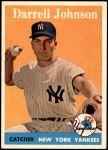 1958 Topps #61 WN Darrell Johnson  Front Thumbnail