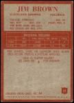 1965 Philadelphia #31  Jim Brown   Back Thumbnail