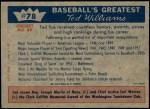 1959 Fleer #78   -  Ted Williams Honors Back Thumbnail