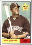 2010 Topps Heritage #209  Eric Young Jr.  Front Thumbnail