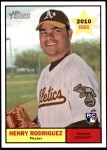 2010 Topps Heritage #327  Henry Rodriguez  Front Thumbnail
