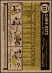 2010 Topps Heritage #148  Chris Getz  Back Thumbnail