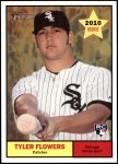 2010 Topps Heritage #276  Tyler Flowers  Front Thumbnail