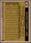2010 Topps Heritage #51   Tigers Team Back Thumbnail