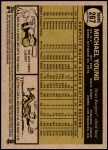 2010 Topps Heritage #267  Michael Young  Back Thumbnail