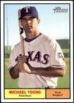 2010 Topps Heritage #267  Michael Young  Front Thumbnail