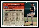 1994 Topps Traded #45 T John Hudek  Back Thumbnail