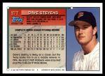 1994 Topps Traded #97 T Dave Stevens  Back Thumbnail