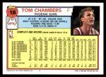 1992 Topps #18  Tom Chambers  Back Thumbnail