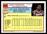 1992 Topps #174  Sam Perkins  Back Thumbnail