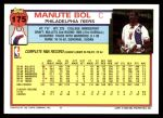 1992 Topps #175  Manute Bol  Back Thumbnail