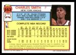 1992 Topps #253  Charles Smith  Back Thumbnail