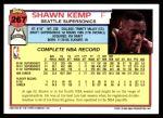 1992 Topps #267  Shawn Kemp  Back Thumbnail