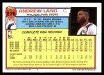 1992 Topps #276  Andrew Lang  Back Thumbnail
