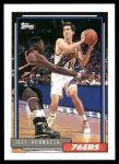 1992 Topps #343  Jeff Hornacek  Front Thumbnail
