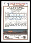 1992 Topps #572  Steve Atwater  Back Thumbnail