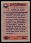 1991 Topps #180  Kurt Gouveia  Back Thumbnail