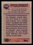 1991 Topps #245  Bruce Reimers  Back Thumbnail
