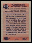 1991 Topps #290  Tunch Ilkin  Back Thumbnail