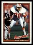 1991 Topps #496  Mark Robinson  Front Thumbnail