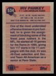 1991 Topps #534  Irv Pankey  Back Thumbnail