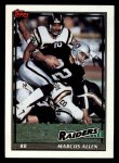 1991 Topps #87  Marcus Allen  Front Thumbnail