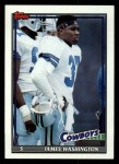 1991 Topps #357  James Washington  Front Thumbnail