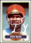 1980 Topps #213  Don Bass  Front Thumbnail