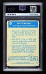 1977 Topps Cloth Stickers #38  Pete Rose  Back Thumbnail