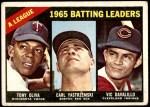 1966 Topps #216   -  Tony Oliva / Carl Yastrzemski / Vic Davalillo /  AL Batting Leaders Front Thumbnail