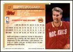 1993 Topps #17  Matt Bullard  Back Thumbnail