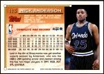 1993 Topps #113  Nick Anderson  Back Thumbnail
