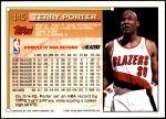 1993 Topps #145  Terry Porter  Back Thumbnail