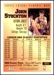 1993 Topps #201   -  John Stockton Future Playoff MVP Back Thumbnail