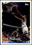 1993 Topps #113  Nick Anderson  Front Thumbnail