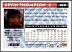 1993 Topps #380  Kevin Thompson  Back Thumbnail
