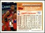 1993 Topps #22  Johnny Dawkins  Back Thumbnail