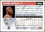 1993 Topps #366  Evers Burns  Back Thumbnail