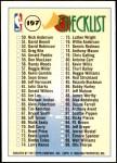 1993 Topps #197   Checklist 1-99 Back Thumbnail