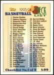 1993 Topps #197   Checklist 1-99 Front Thumbnail