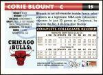 1993 Topps #15  Corie Blount  Back Thumbnail