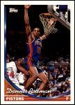 1993 Topps #77  Dennis Rodman  Front Thumbnail