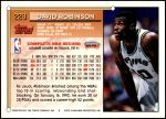 1993 Topps #228  David Robinson  Back Thumbnail