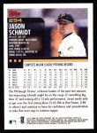 2000 Topps #294  Jason Schmidt  Back Thumbnail