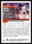2000 Topps #423  Dmitri Young  Back Thumbnail