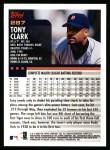 2000 Topps #287  Tony Clark  Back Thumbnail