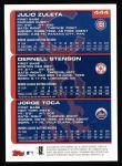 2000 Topps #444   -  Julio Zuleta / Dernell Stenson / Jorge Toca Prospects Back Thumbnail